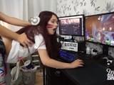 Teen Gamer Girl Gets A Creampie