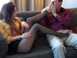 Nylon Feet A Sniffing Smelling Footjob Baby Citter Pantyhose Dom Smelling T