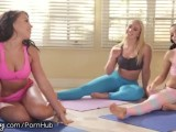 Girlsway Yoga Class Leads To Squirt Showers!