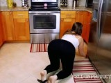 House Maid Gets Caught Being A Piggy At Work