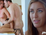 BRUNETTE BABE RILYNN RAE FUCKED HARD, FAST AND ROUGH IN DOGGYSTYLE
