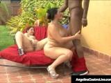 BBWs Angelina Castro & Lexxxi Lockhart Suck Big Black Cock!