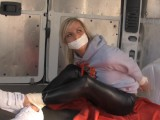 Jogger Kidnapped, Bound, & Gagged Into Van Wearing Leather Leggings