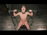 Bound Girl On Sybian Sweating Out Multiple Orgasms
