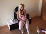 Spanish Stripper Fucks To Try Get A Job (hidden Cam)