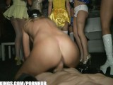 Party Of Busty College Girls Ride Big-dick In The Nightclub VIP