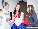 Hot Teen Cosplay Queens Share Cock In Foursome