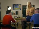 Dirty Teacher Blanche Bradburry Gets Fucked By Two Studs – Brazzers
