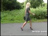 Gorgeous Blonde Stiletto Girl Jess Stimulates Fetish In High Stiletto Heels
