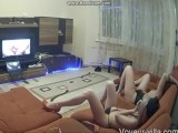 Two Girls Masturbating While Watching Porn