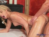 Massage Rooms Blonde Babe Gets Fucked And Creampied By Girl's Boyfriend