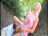 Hot Euro Babe Fucks Old Man In Public