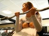 Teen Flashing Big Tits At The Gym