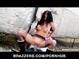 Sexy Brunette British Spy Stacey Lacey Is Caught & Fucked By Cop