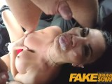 Fake Driving School Pussy Creampie And Anal Sex For Busty Milf In Threesome
