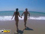 BANGBROS – Patty Michova & Christian Clay Beach Sex In Full View Of Public!