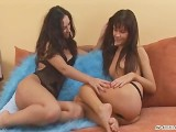 Dildo Ramming And Two Hardcore Lesbians