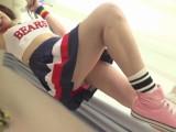 JAPANESE Cheerleader In Sneakers