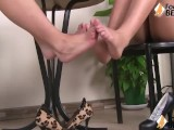 Smoking-Hot Barefoot Girls Playing Footsies With Eachother