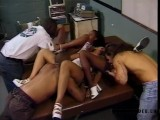 Orgy Party With Black Ebony And Big Black Cock